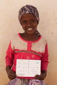 Una cartolina giunta da Bussero e destinata ad una bambina di Galkayo